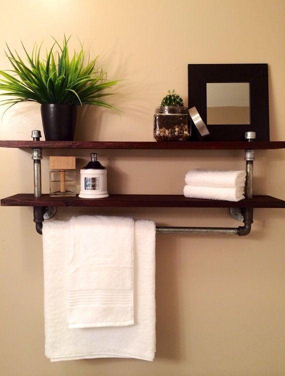 The galvanized pipe towel rack will soon be your bathrooms - Decorative towel bars for bathrooms ...