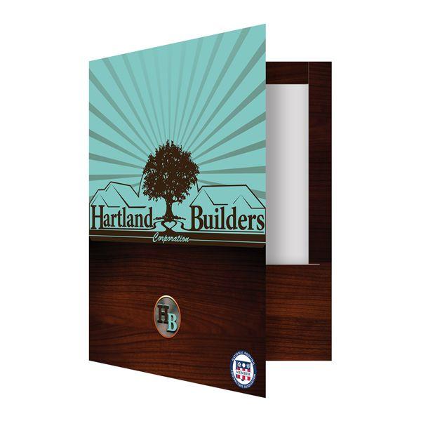 [Folder Design] Hartland Builders Wood Grain Presentation Folder