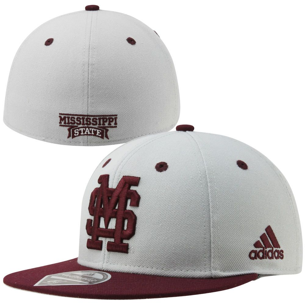 091e59346cb adidas Mississippi State Bulldogs Dawgs On-Field Fitted Hat - Gray Maroon