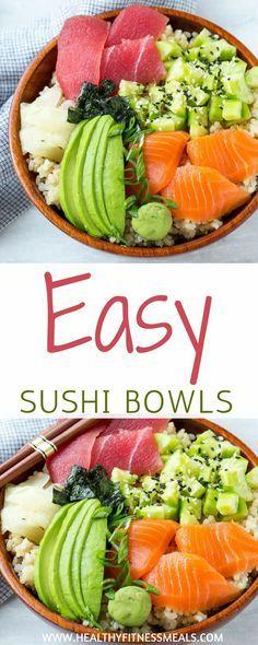 Photo of Easy Sushi Bowl #easysushibowl #bestsushirecipe #healthyeating #healthyfitnessme…