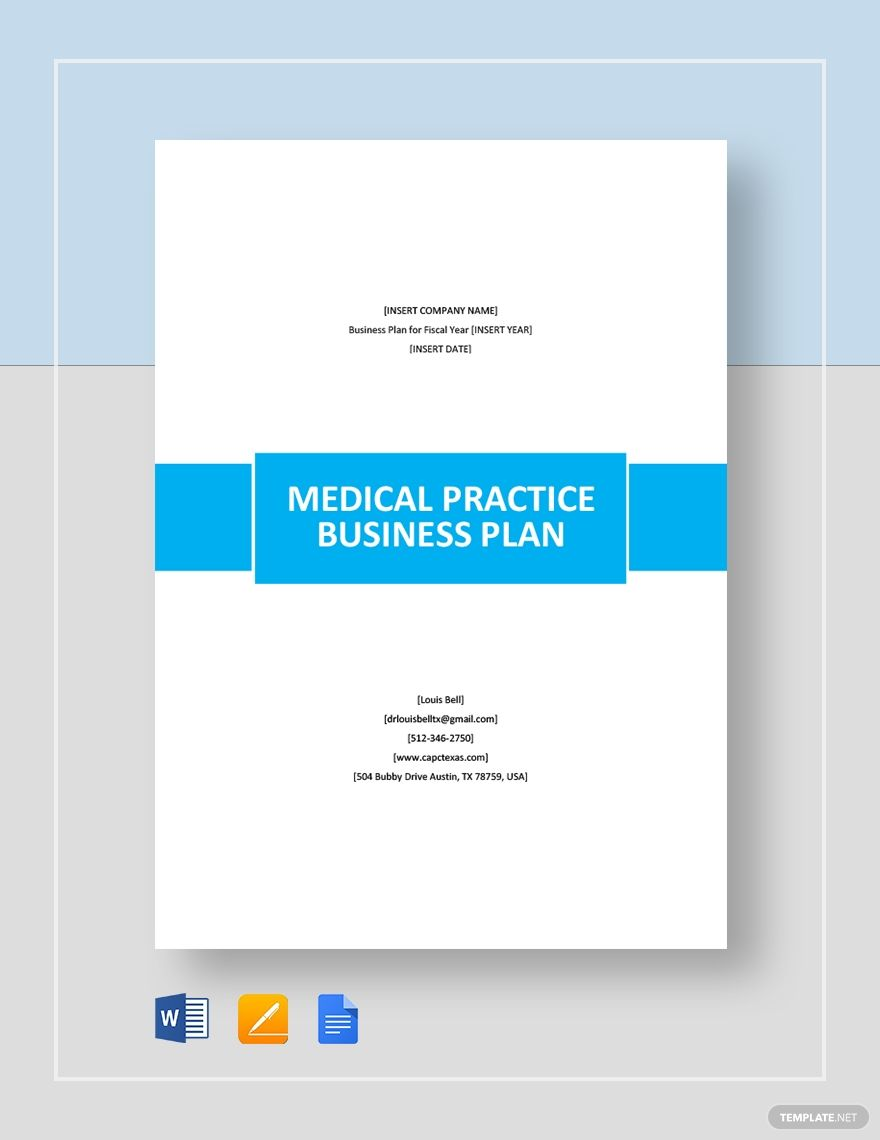 Medical Practice Business Plan Template Free Pdf Google Docs Word Template Net Business Plan Template Business Planning Business Plan Template Free Medical practice marketing plan template