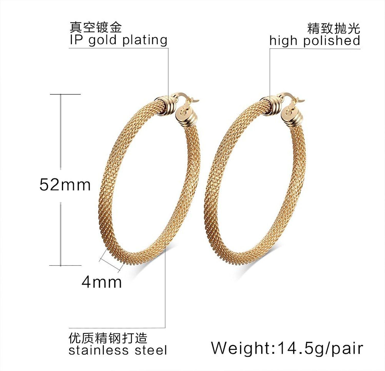 Hoop Earrings Ss Mesh Oval Hoop Earring