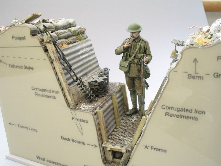 andy belsey creates wwi detailed trench models