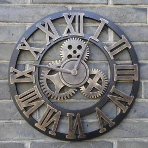 fait a la main retro horloge murale surdimensionne