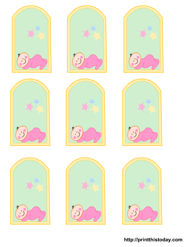 graphic regarding Free Printable Baby Shower Labels identified as Absolutely free Printable little one female, boy Boy or girl Shower Want Tags Print