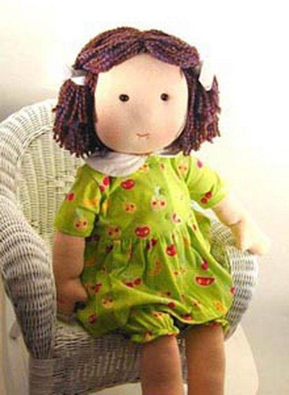 Cloth doll sewing pattern - 14 inch rag doll pattern ...