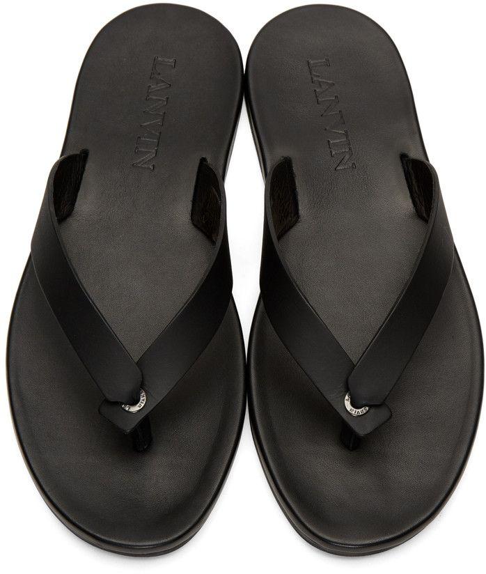 Lanvin - Black Leather Sandals