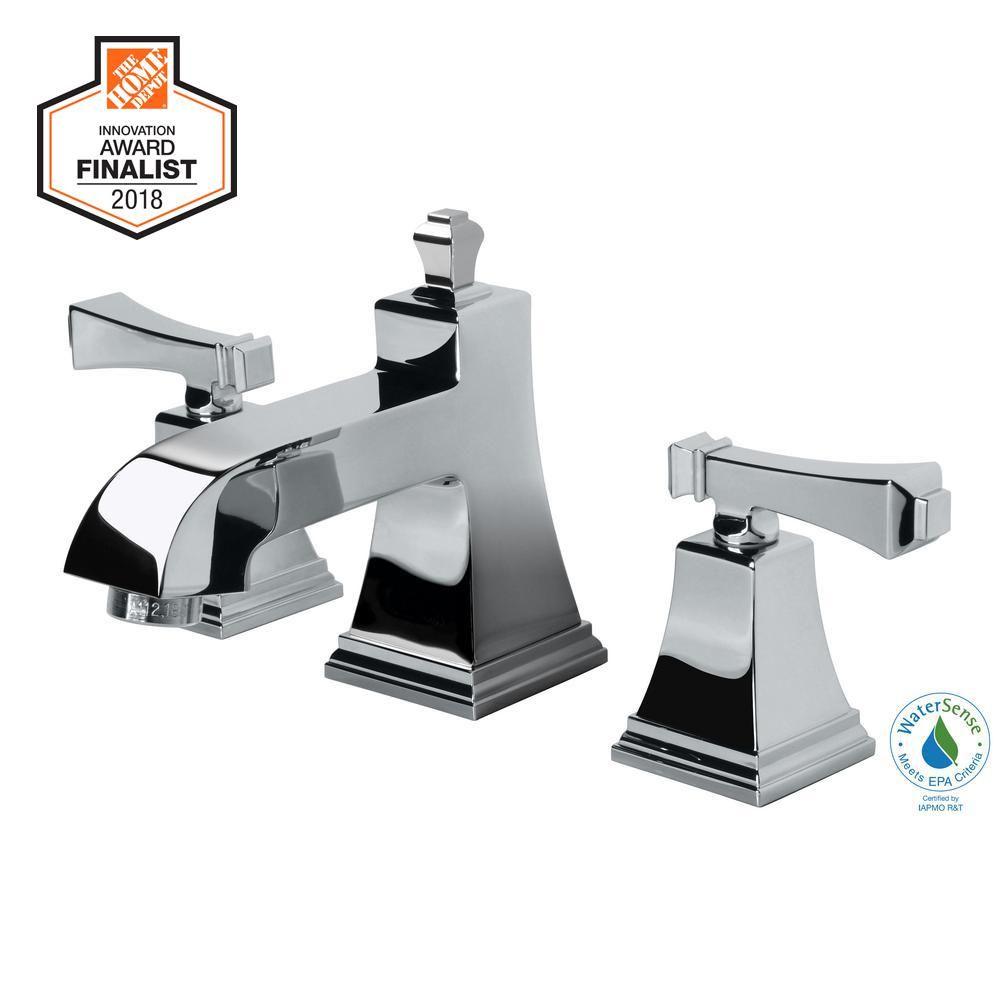 Glacier Bay Exhibit 8 In Widespread 2 Handle Low Arc Bathroom Faucet In Chrome Grey Bathroom Faucets Widespread Bathroom Faucet Sink Faucets