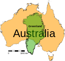 A Size Comparison Of The Smallest Continent Australia And The - Why is greenland not a continent