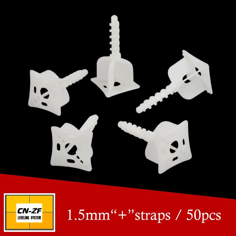 Tile Leveling System 1 5mm 50pcs Straps Cross Spacers Clamps Clips Flat Gap Tiling Leveler Alignment Tools For Construction Tools Tile Leveling System Tools