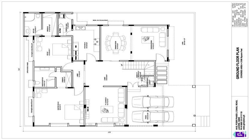 11 Marla Corner House Design 50 X 60 Ghar Plans Corner House House Design Free House Design
