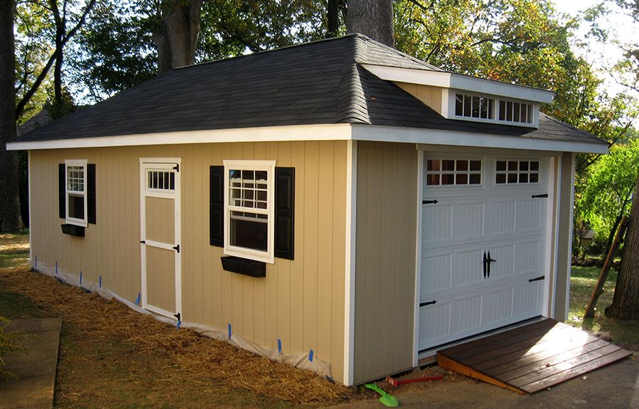 Best 14X28 1 Car Garage The Hip Roof The Carriage House Style 640 x 480