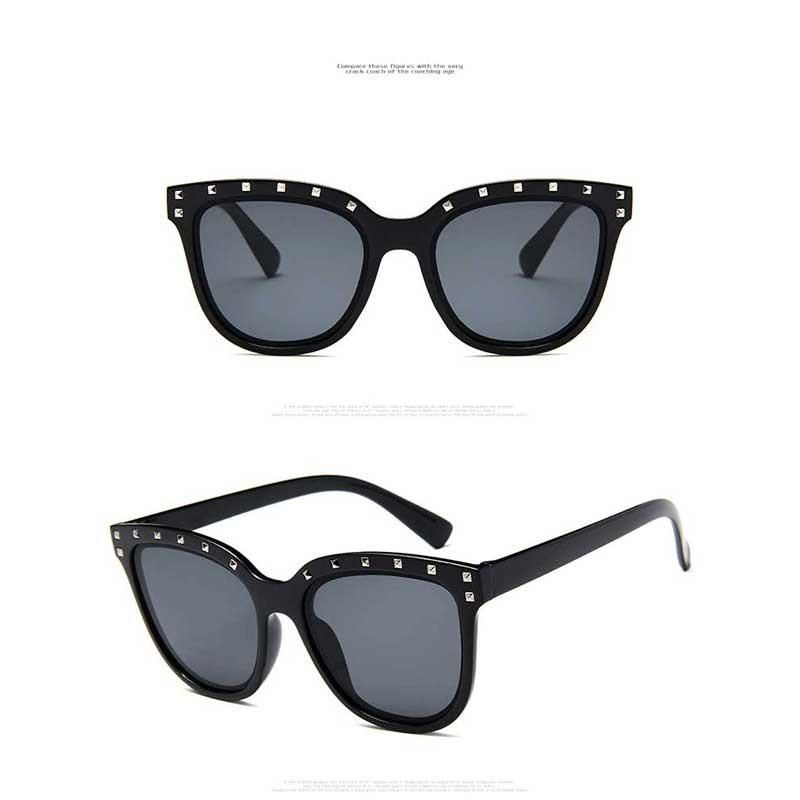 060d2b12f8 Women Rivet Sunglasses with Retro Colorful Coating Lens (Available in  multiple colors)