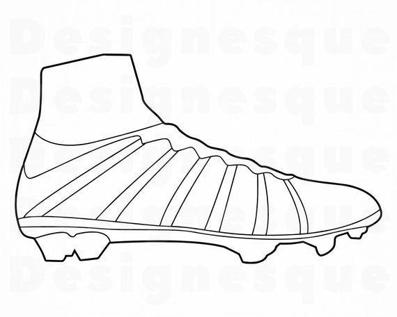 Soccer Cleat Outline Svg Soccer Cleat Svg Cleats Svg Soccer Etsy In 2020 Svg Soccer Cleats Sewing Clipart
