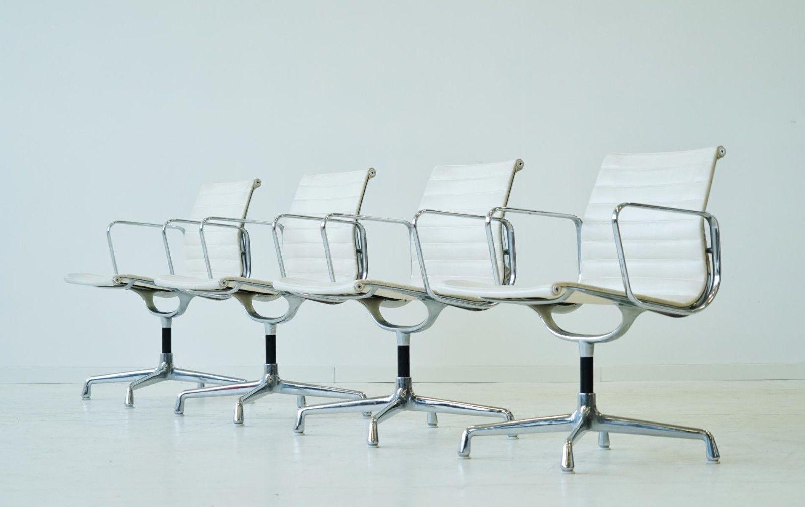 4x Eames Herman Miller Alu Office Chair Stuhl Stühle Bürostuhl EA ...