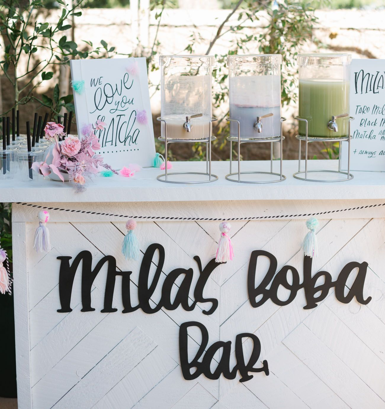 Find a cuter party than thisits a boba bar birthday