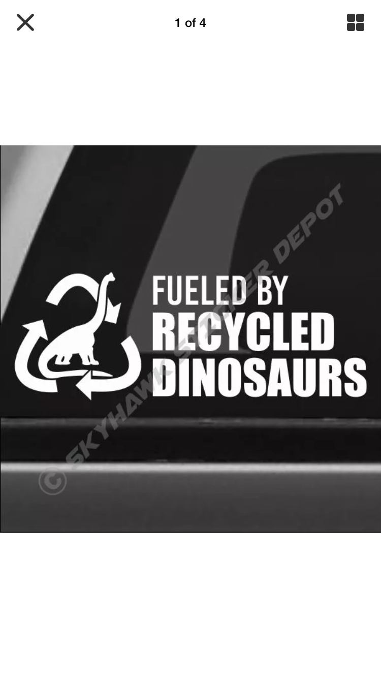 Recycled dinosaurs funny decals truck decals sticker vinyl truck stickers funny bumper