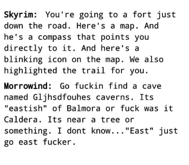 Skyrim Vs Morrowind Skyrim