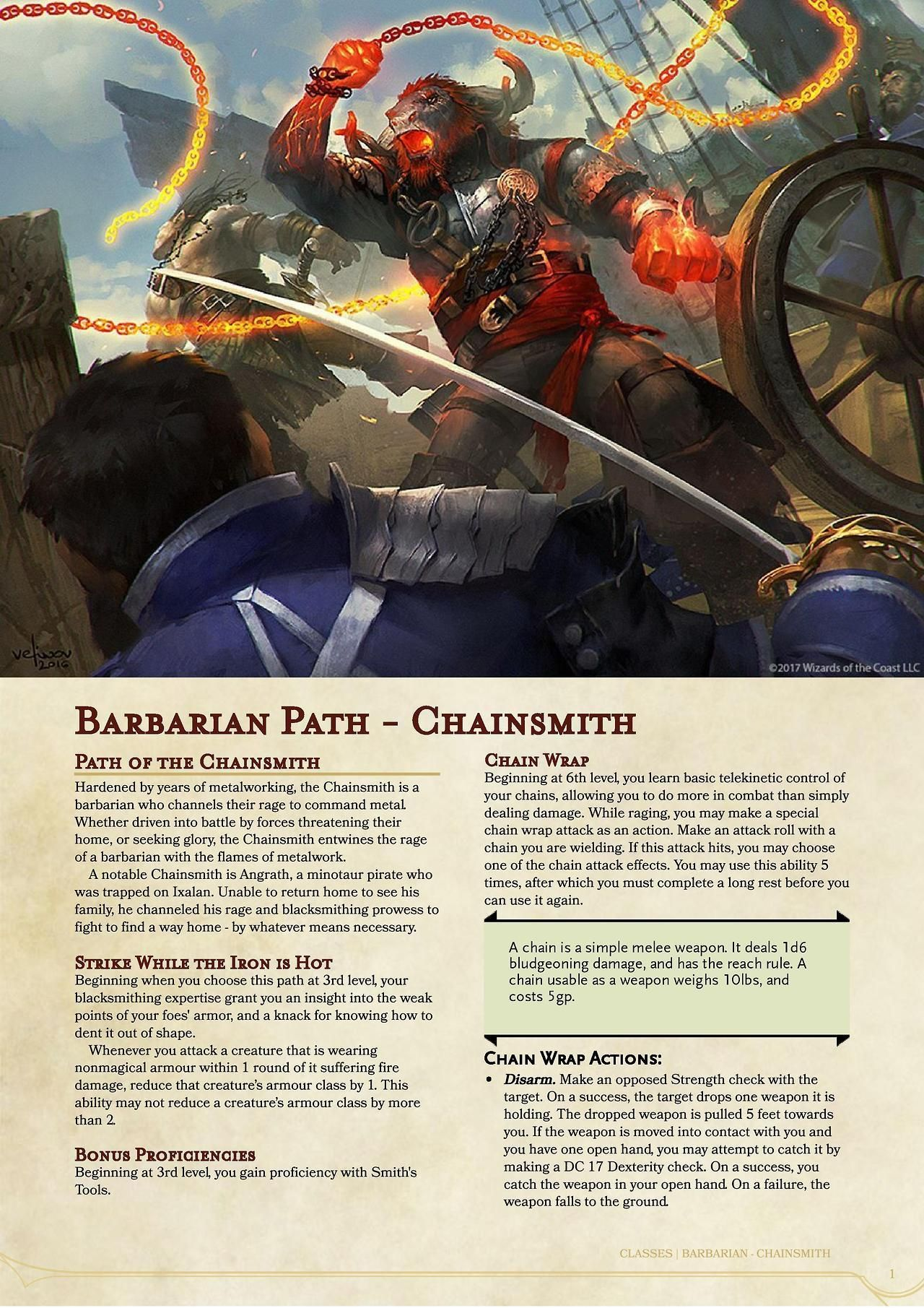 Kor Artificer - New RPG homebrew content every Saturday — Barbarian