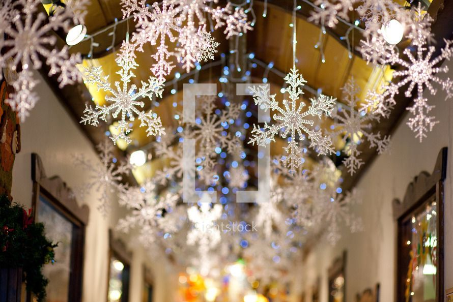 Going To Hang Snowflakes From L S Bedroom Ceiling As A Surprise I Ve Done This Before The Above Christmas Tree