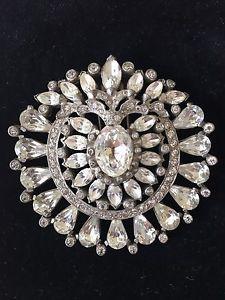 Eisenberg Original Sparkling Large Clear Pin Clip Brooch - No Reserve   eBay