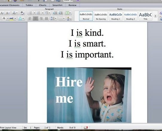Just working on my résumé.