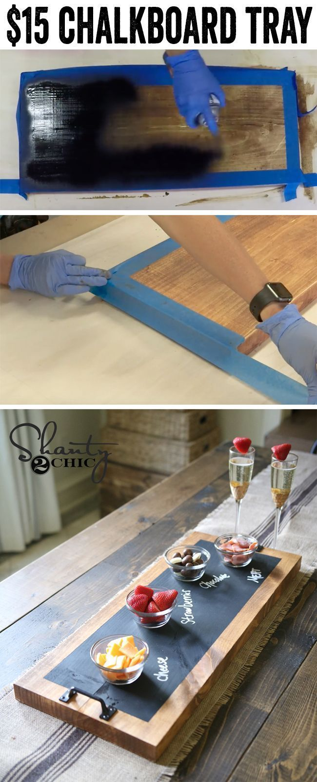 Diy Chalkboard Serving Tray Tutorial And Youtube Video Madera