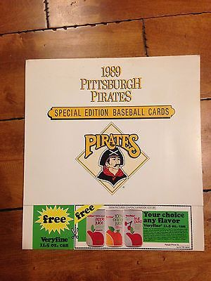 Details About 1989 Pittsburgh Pirates Special Edition Baseball Cards