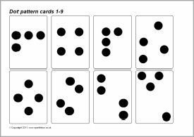 dot pattern subitising cards 1 9 sb4825 sparklebox uv4ddxffwso uv4ddxffwso math. Black Bedroom Furniture Sets. Home Design Ideas