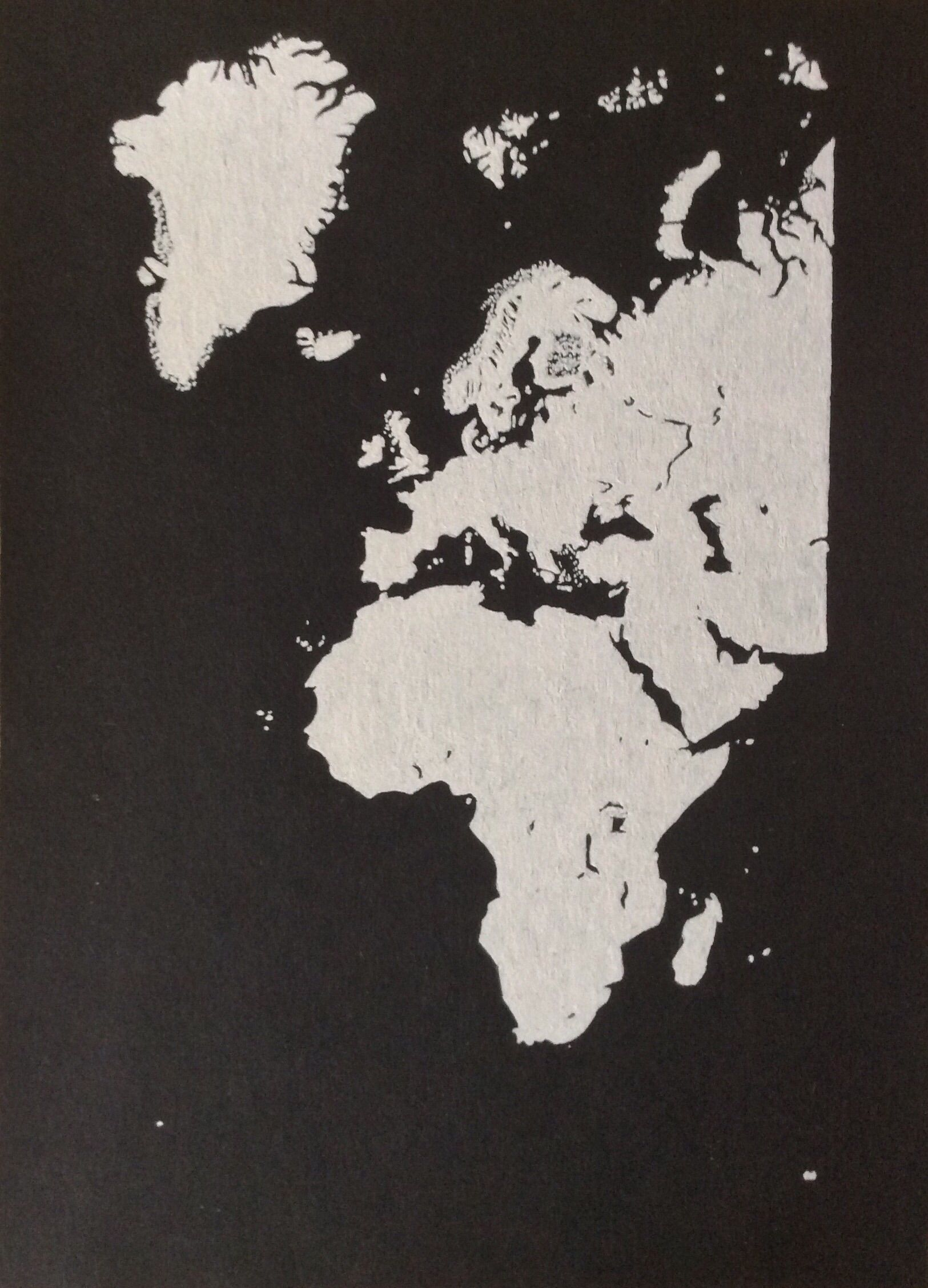 Europe and Africa White gel pen