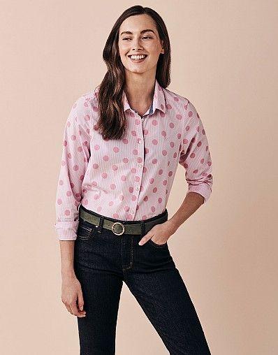 Crew Clothing Classic Spot Stripe Shirt