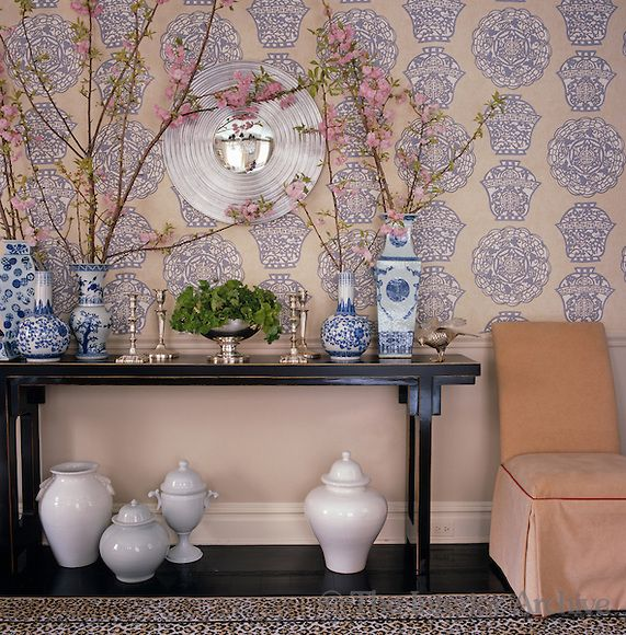 Dining Rooms From The Orient: The Oriental Theme Of The Wallpaper In The Dining Room Is
