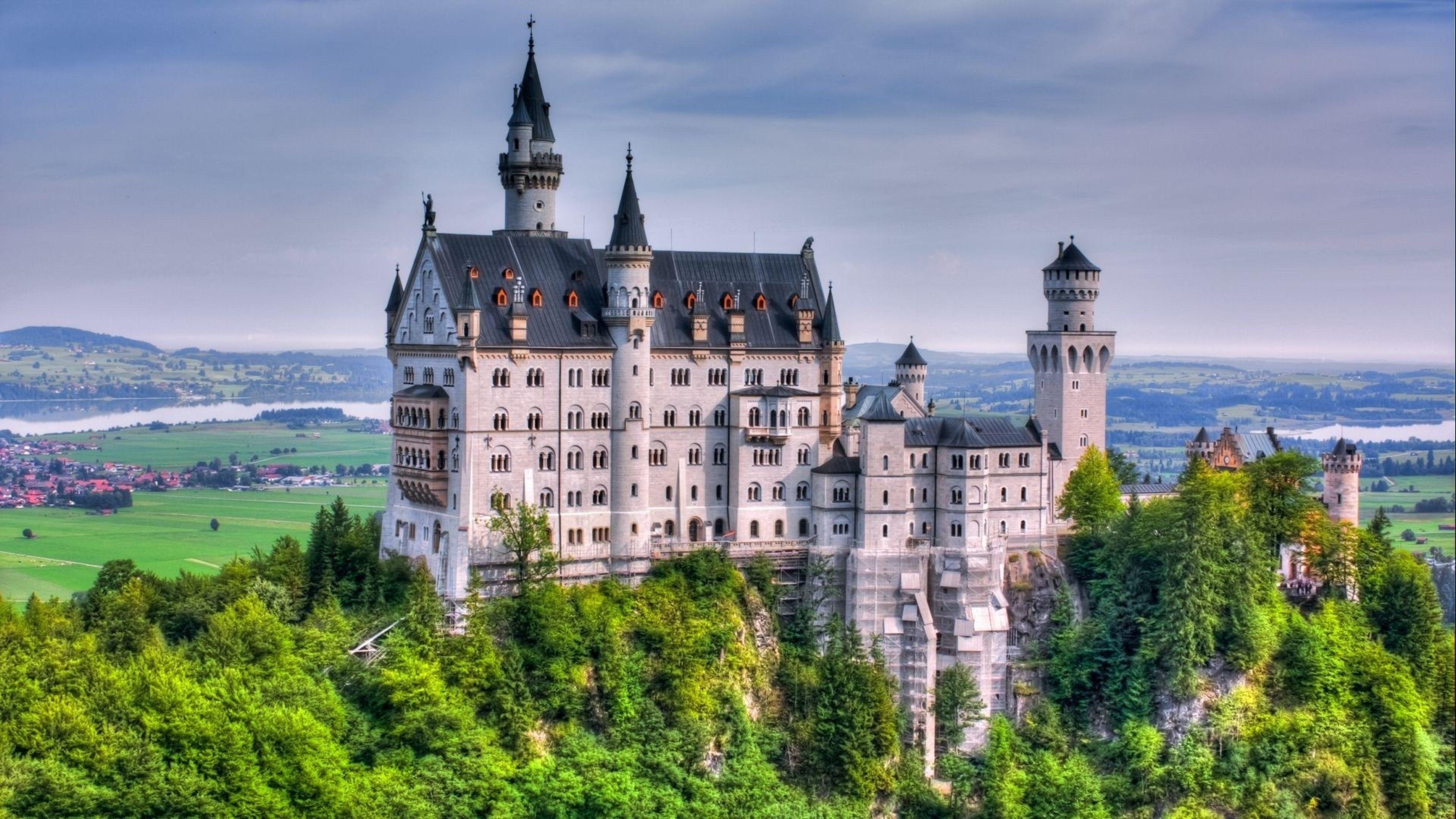 Castle Neuschwanstein 4k Ultra Hd Wallpaper Beautiful Castles Germany Castles Neuschwanstein Castle