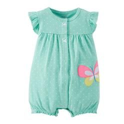782f5feb0a1f Carter s Carters Infant Girls Mint Green   White Dot Butterfly Romper  Creeper 3 Months