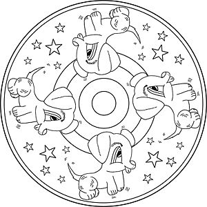 koira mandala värityskuvia | lasten mandala / children's mandala | pinterest | mandala, runes