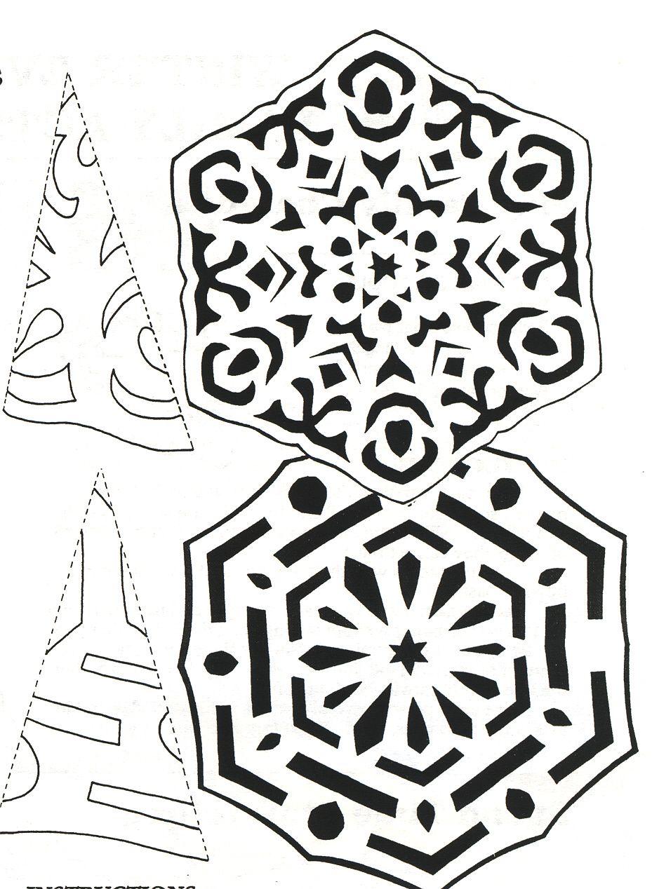 snowflakes | cut paper - snowflakes - nerd flakes - kirigami ...