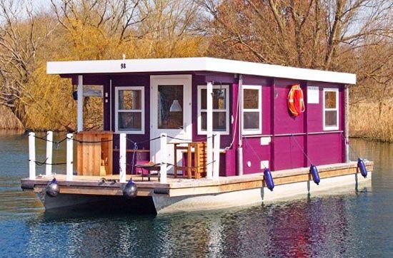 Hausboot Kurzurlaub Fur 4 Floating House Boat House Interior Houseboat Living