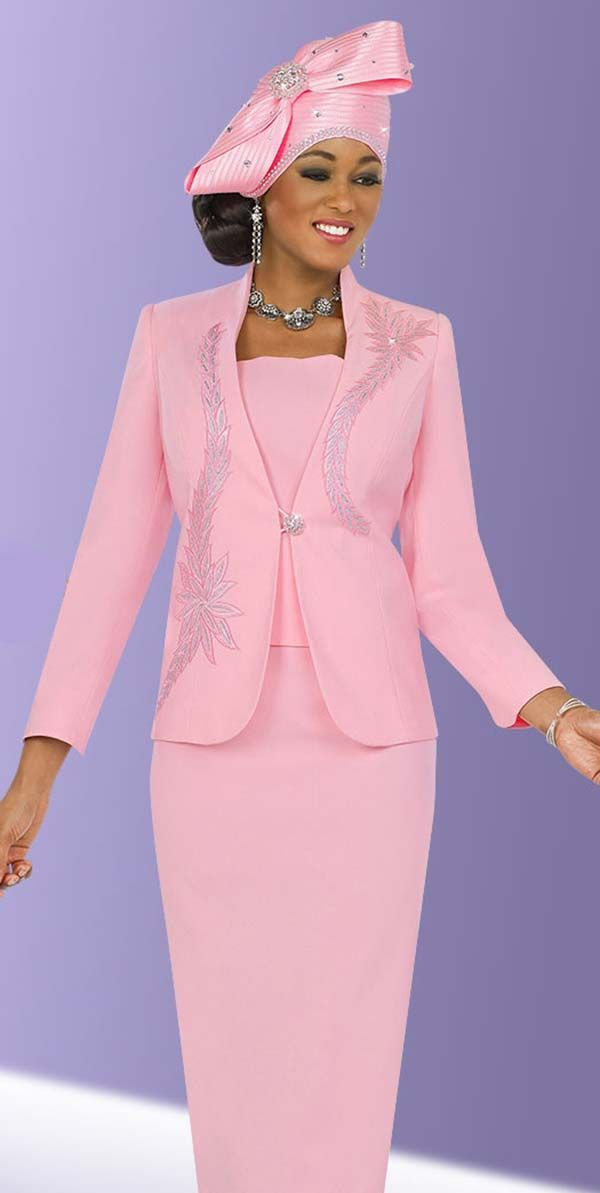 Fifth Sunday 52833 Pink Jewel Embellished Skirt Suit With Embroidery