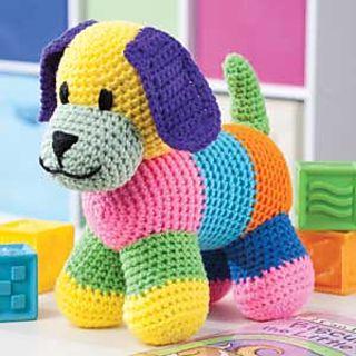 Patchwork Puppy pattern by Sheila Leslie | crochet | Crochet