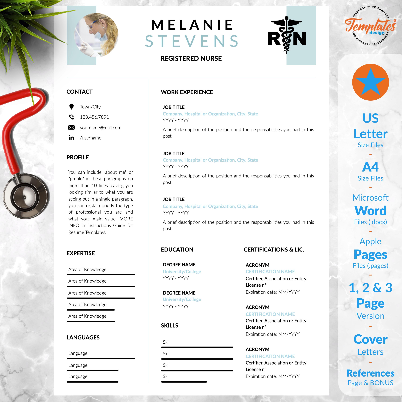 Medical Or Nurse Resume Template / Nursing Resume Design