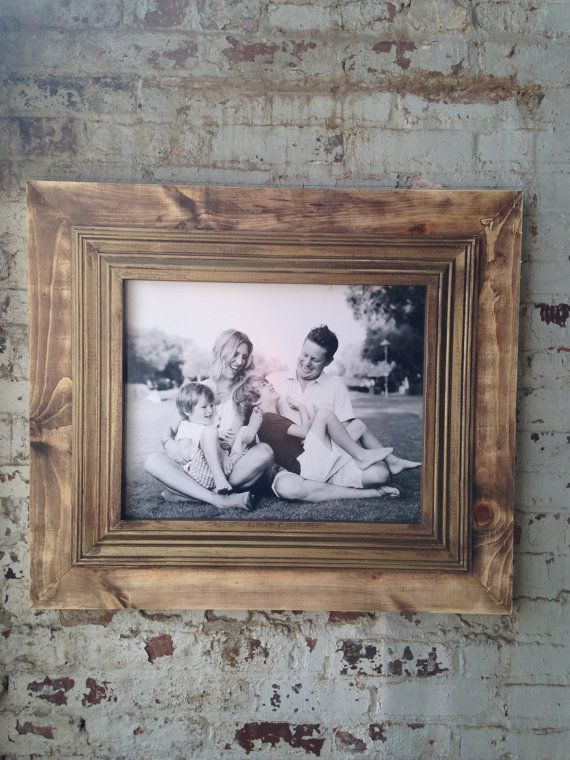 Rustic Raw Wood Frame by deltagirlframes on Etsy | Decor ...