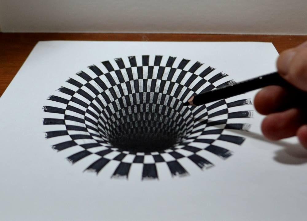 étonnant Trou Noir Au Crayon Dessins En 3d Draw Et Youtube