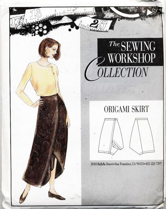 The Sewing Workshop Collection Sewing Pattern Origami Skirt Abiti