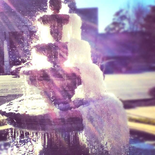 One of the fabulous fountains I found during the colder months!