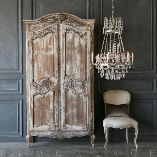 Charming Rustic Kitchen Ideas And Inspirations: Charming Eloquence Antique French Armoire With Four