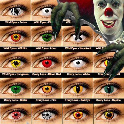 crazy halloween contact lenses kontaktlinsen color contact lens color one pair - Contact Lenses Color Halloween