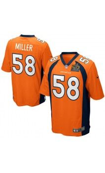 33f47fca3 NFL Men s Denver Broncos Von Miller Orange Super Bowl 50 Bound Game Jersey   sb50  mvp