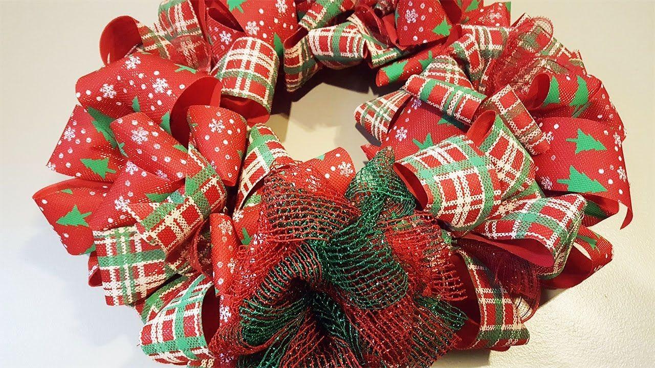Dollar Tree Christmas Bow Wreath DIY Crafts Dollar