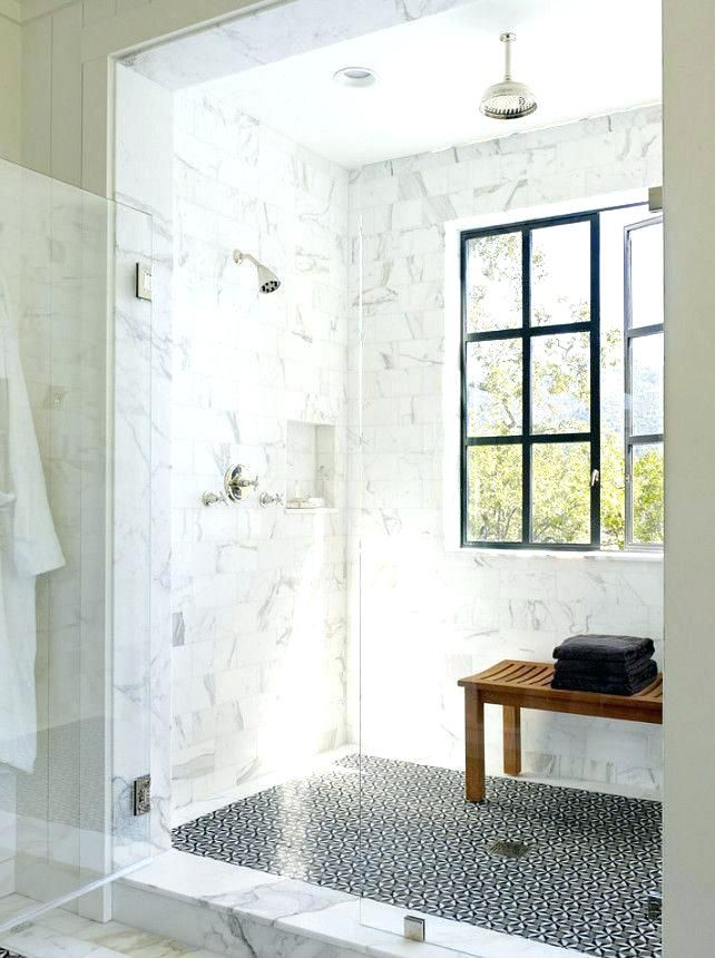 Google Image Result For Http Joejune Com Wp Content Uploads 2018 07 Teak Bench Shower A Bea Small Farmhouse Bathroom Window In Shower French Country Bathroom