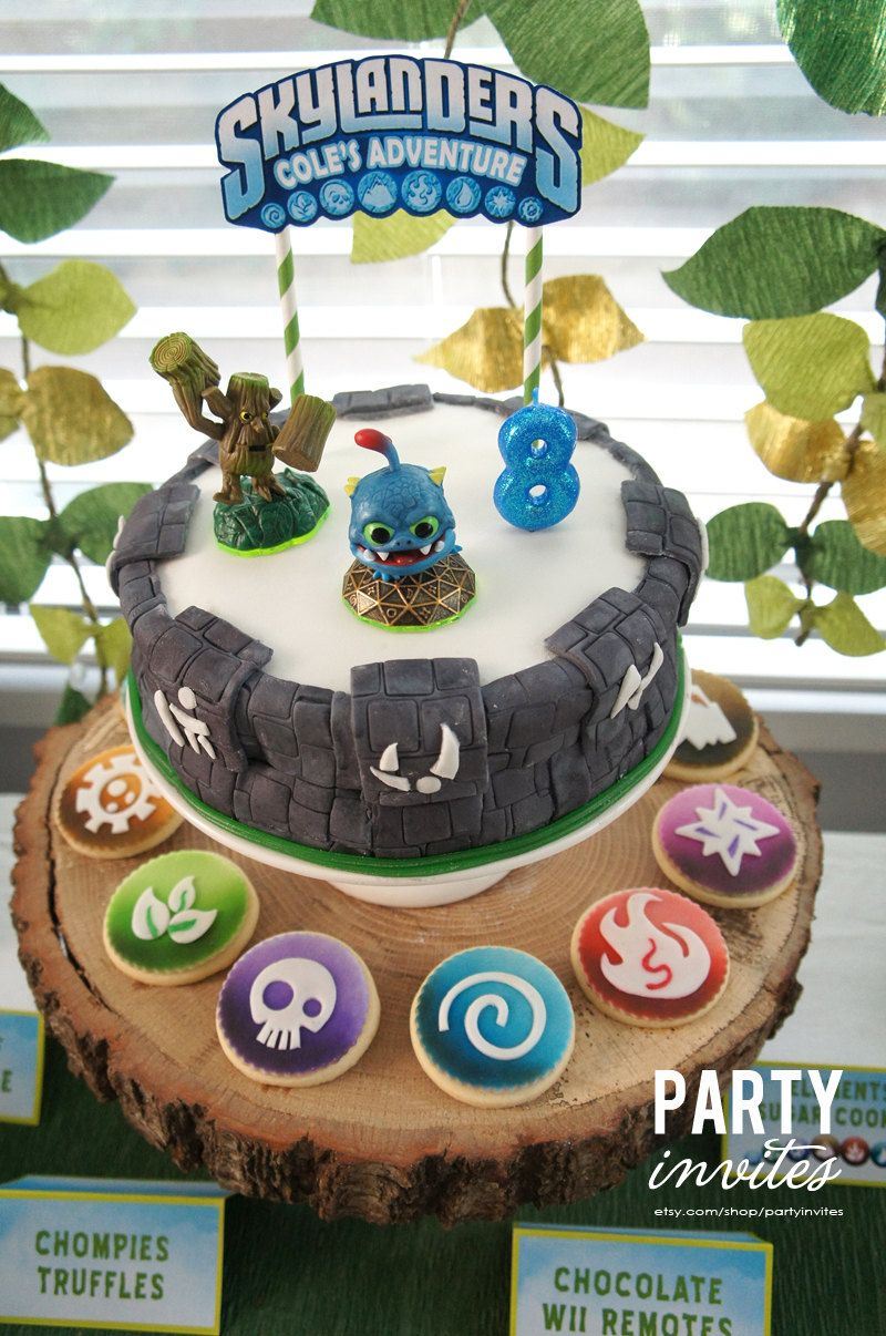 Remarkable Skylanders Cake Topper Printable Diy 4 00 Via Etsy With Funny Birthday Cards Online Inifofree Goldxyz